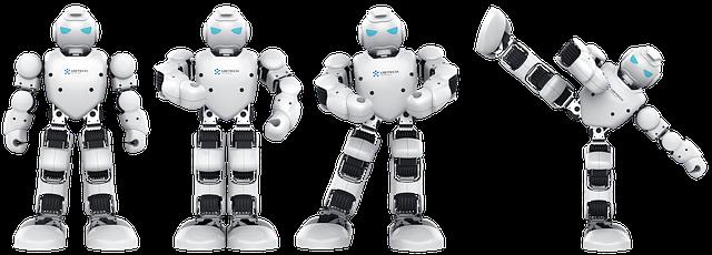 roboti v pózách